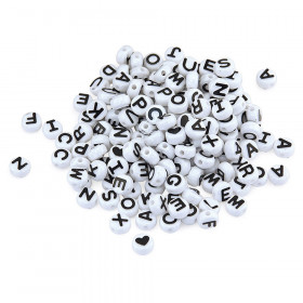 ABC Beads, Black and White, 300 Count