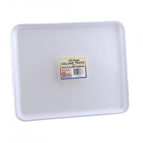 "Foam Trays, 9"" x 11"", Pack of 25"