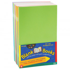 "Blank Paperback Books, 5.5"" x 8.5"", Assorted Colors, Pack of 10"