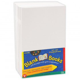 "Blank Paperback Books, 5.5"" x 8.5"", White, Pack of 10"