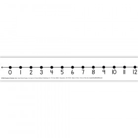 Number Line Student W/ 12/Pk Adhesive 2 X 24 Mark-On/Wipe-Off