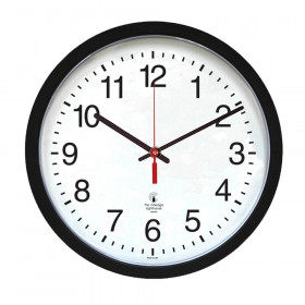 "Contemporary Clock, 14.5"" Dial, Quartz Movement, 16.5"" Diameter, Black"
