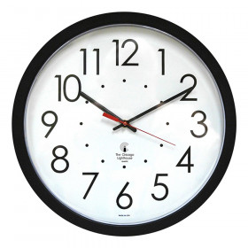 "14.5"" Blk SelfSet Clock, 12.5"" Std. Dial, auto chng for Seasons"