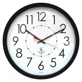 "14.5"" Blk Electric Clock, 12.5"" Dial, 5' Cord UL rated movement"