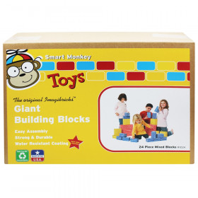 ImagiBRICKS Giant Building Block Set, 24 Pieces