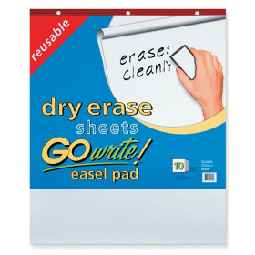 """Dry Erase Easel Pad, Non-Adhesive, White, 25"""" x 30"""", 10 Sheets"""