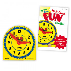 My Own Little Judy Clock with Booklet Manipulative, Grade PK-1