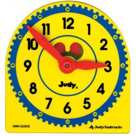 Judy Plastic Clock, Grade K-3, Class Pack of 6
