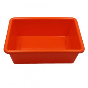 "Cubbie Tray, Orange, 8-5/8"" x 13-1/2"" x 5-1/4"""