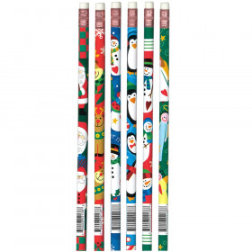 Christmas Assortment Pencils, Dozen