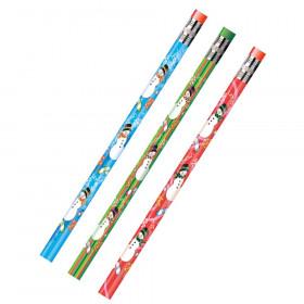 Decorated Pencils, Holiday Snowmen Asst., 12/pkg