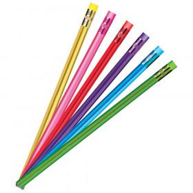 Metallic Glow Pencils, Assorted Colors, 12 Count