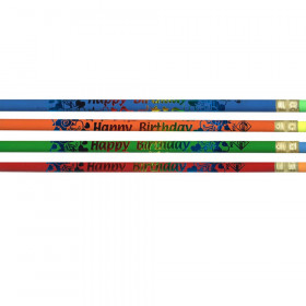 Pencils Happy Birthday 12/Pk