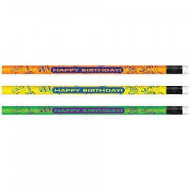 Pencils Neon Happy Birthday, Dozen