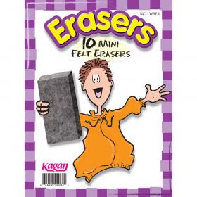 Erasers, Mini, 10pk