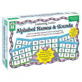 Listening Lotto: Alphabet Names & Sounds Board Game, Grade PK-1