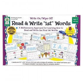 Write On/Wipe Off: Read & Write First Words Manipulative
