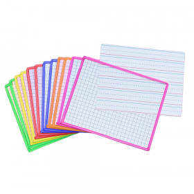Clear Dry Erase Sleeves, Assorted Colors, 12 Per Pack