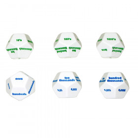12-Sided Place Value Dice Set Of 6