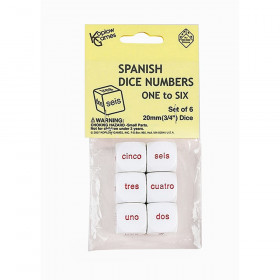 Spanish Number Dice, Set of 6