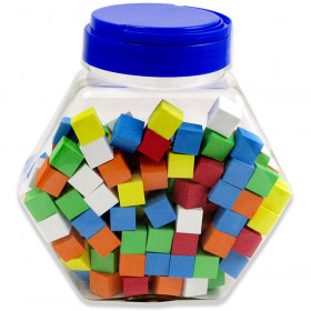16Mm Foam Dice Tub Of 200 Assorted Color Blank