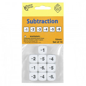 Subtraction Dice, Set of 10