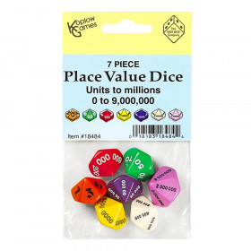 Place Value Dice, Set of 7