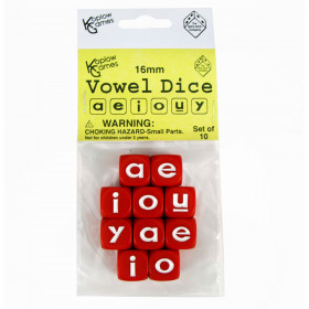 Vowel Dice Set 10 Pc