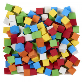 Foam Blank Dice, Assorted Color, 16mm, Bag of 200