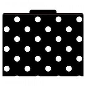 File Folders Black & White Dots Functional File Folders