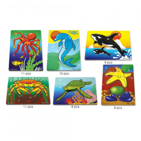 Sea Life Puzzle Set, Set of 6