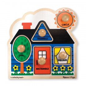 "First Shapes Jumbo Knob Puzzle, 12"" x 12"", 5 Pieces"