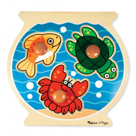 "Fish Bowl Jumbo Knob Puzzle, 12"" x 12"", 3 Pieces"
