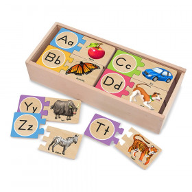 Self-Correcting Wooden Alphabet Letter Puzzles