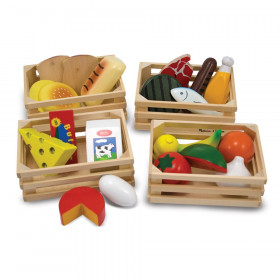 Food Groups - Wooden Play Food in Crates