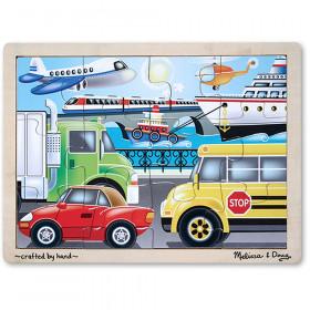 Wooden Jigsaw Puzzle Transportation