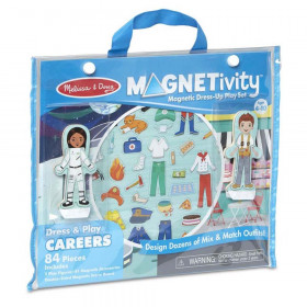 Magnetivity Magnetic Building Play Set: Dress & Play Careers