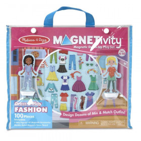 Magnetivity Magnetic Building Play Set: Dress & Play Fashion