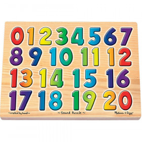 "Numbers Sound Puzzle, 13.25"" x 10"", 21 Pieces"