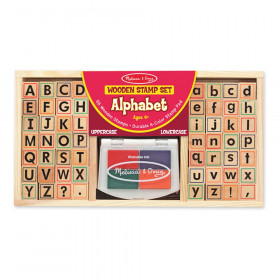 Alphabet Stamp Set, Set of 56 Letters and Stamp Pad