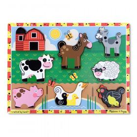 "Farm Animals Chunky Puzzle, 9"" x 12"", 8 Pieces"