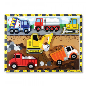 """Construction Chunky Puzzle, 9"""" x 12"""", 6 Pieces"""