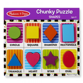 """Shapes Chunky Puzzle, 9"""" x 12"""", 8 Pieces"""