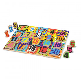 """Jumbo Numbers Chunky Puzzle, 12"""" x 16"""", 20 Pieces"""