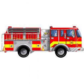 Giant Fire Truck Floor Puzzle, 4' Long, 24 Pieces