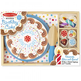 Birthday Party Wooden Play Food, 34 Pieces