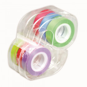 Removable Highlighter Tape, Assorted Colors, Pack of 6