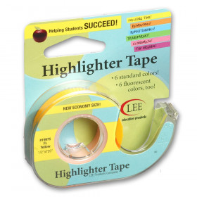 Removable Highlighter Tape, Fluorescent Yellow