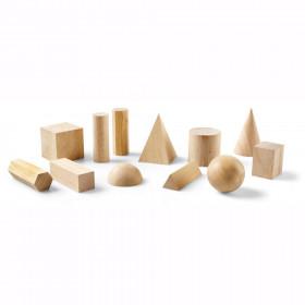 Wooden Geometric Solids, 12/pkg
