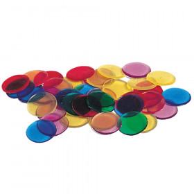 Transparent Counters 250-Pk 3/4 6 Colors